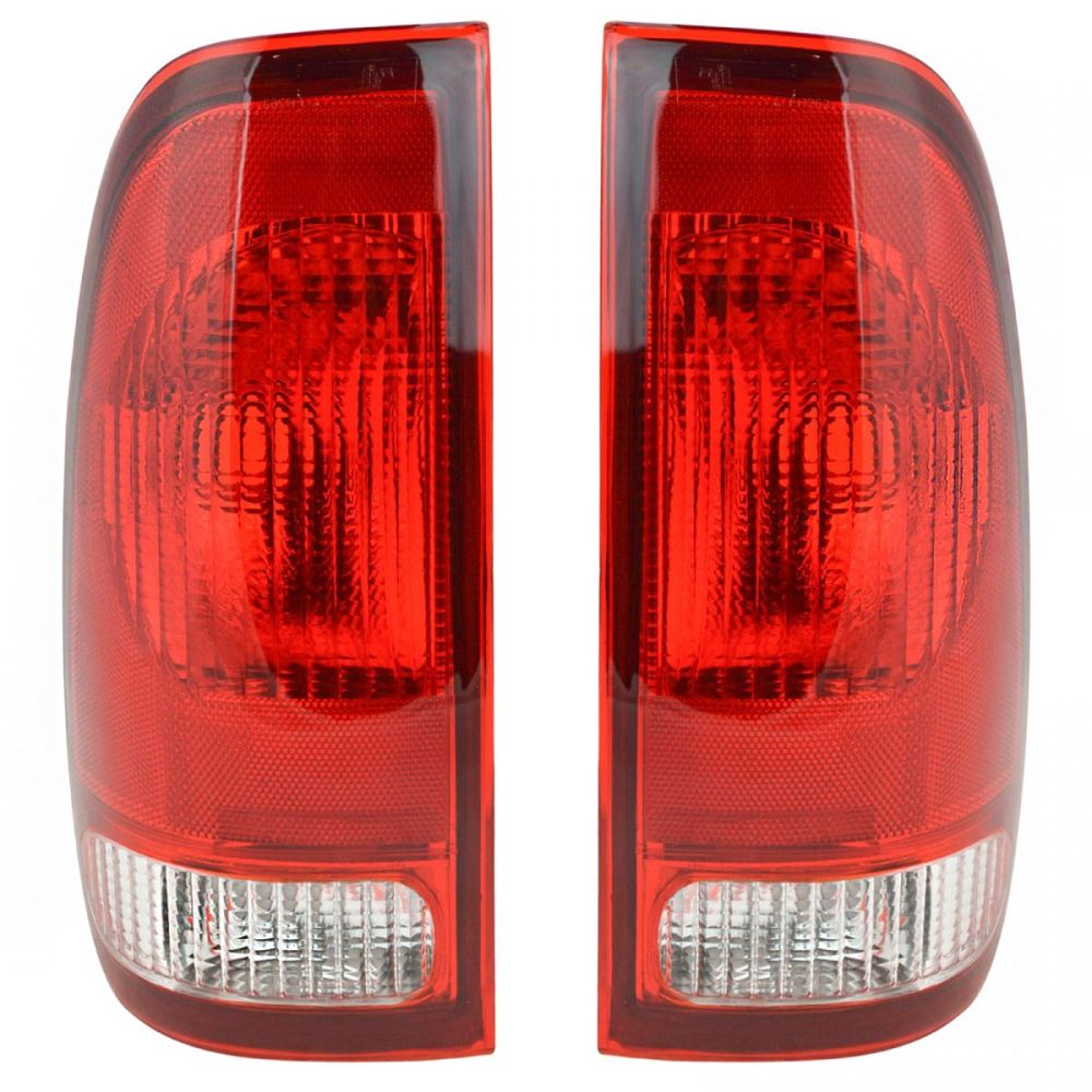 medium resolution of taillights taillamps rear brake lights pair set new for ford f series truck