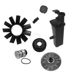 water pump fan clutch blade expansion tank thermostat kit for bmw e46 z3 x3 [ 1200 x 1200 Pixel ]