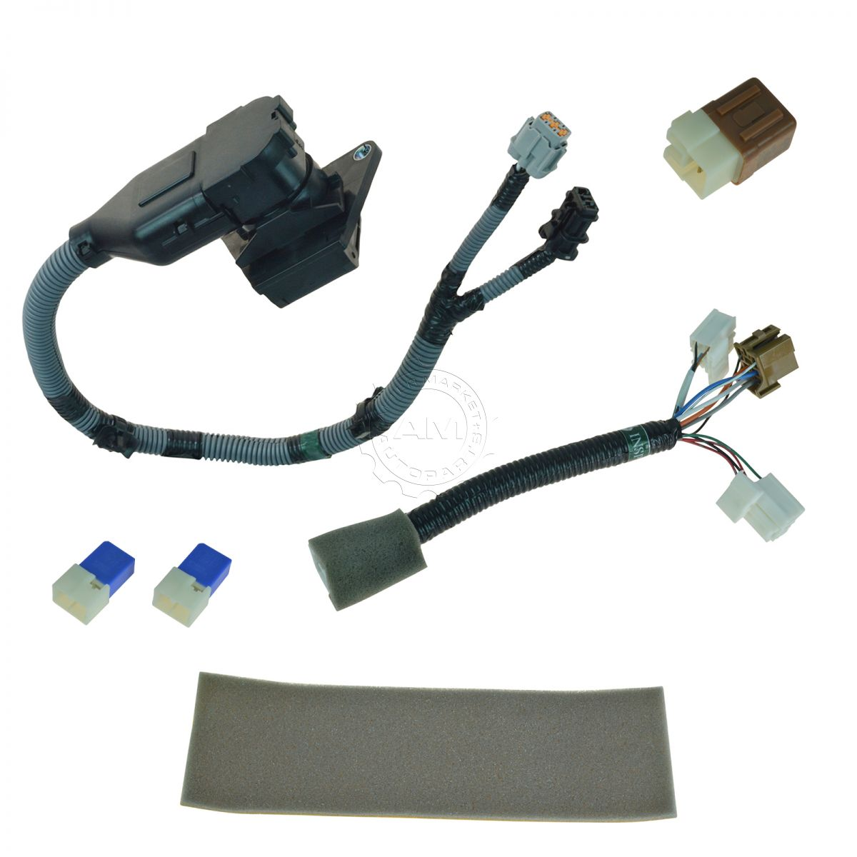 2005 nissan frontier trailer wiring diagram grain kernel oem 999t8br020 complete 7 pin plug and play tow harness kit