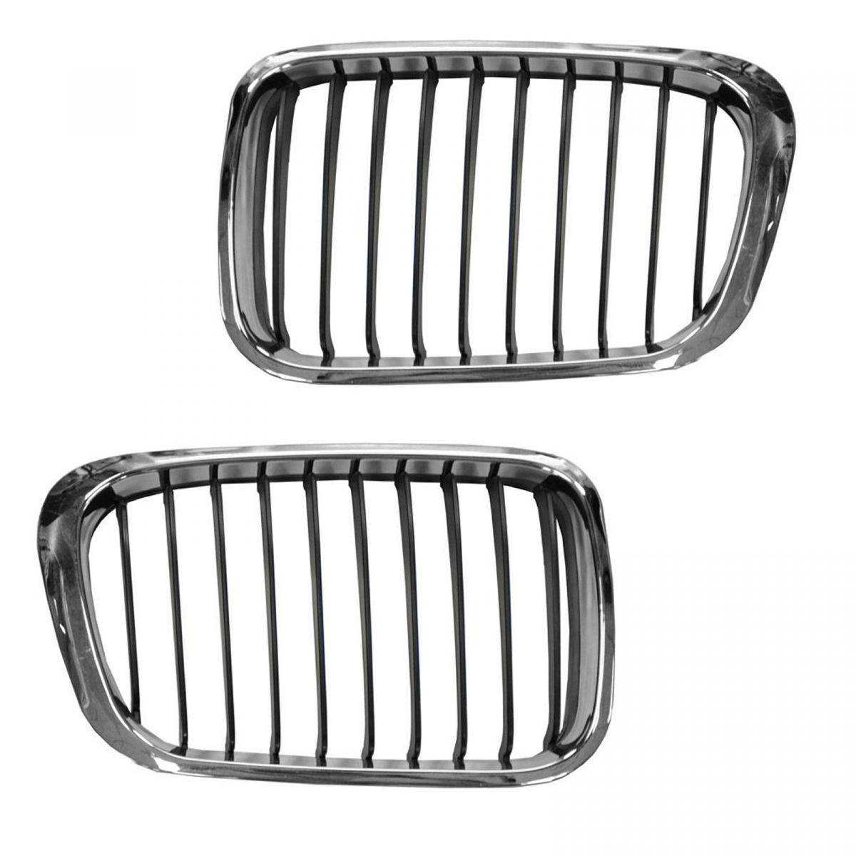 Grill Grille Chrome Insert Upper Pair Set For 99 01 Bmw 3