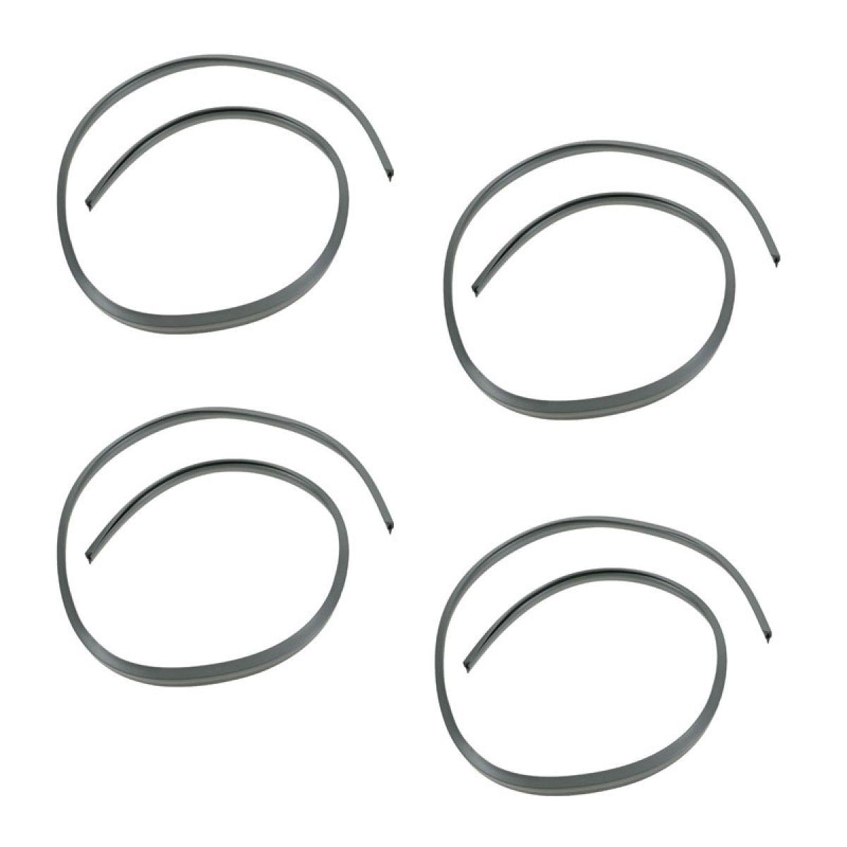 Molded Uv Resistant Wheel Spoiler Trim Kit Set Of 4 For 74