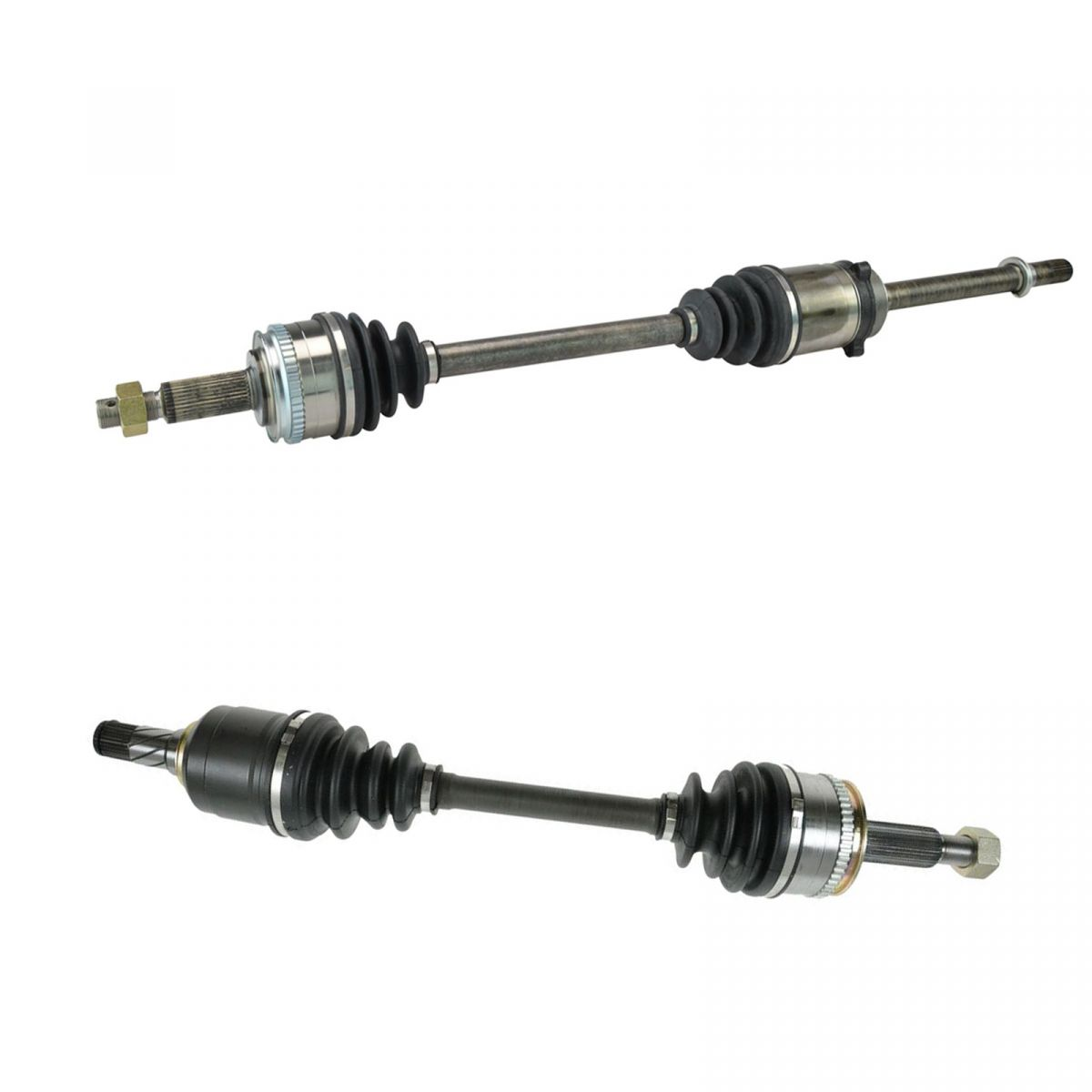 TRQ New Complete Front CV Axle Shaft Assembly Pair Set for
