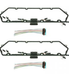 diesel valve cover gasket w injector glow plug harness set for ford 7 3l [ 1200 x 1200 Pixel ]