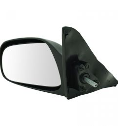 dorman manual remote side view mirror driver left hand for corolla prizm 4 door [ 1200 x 1200 Pixel ]