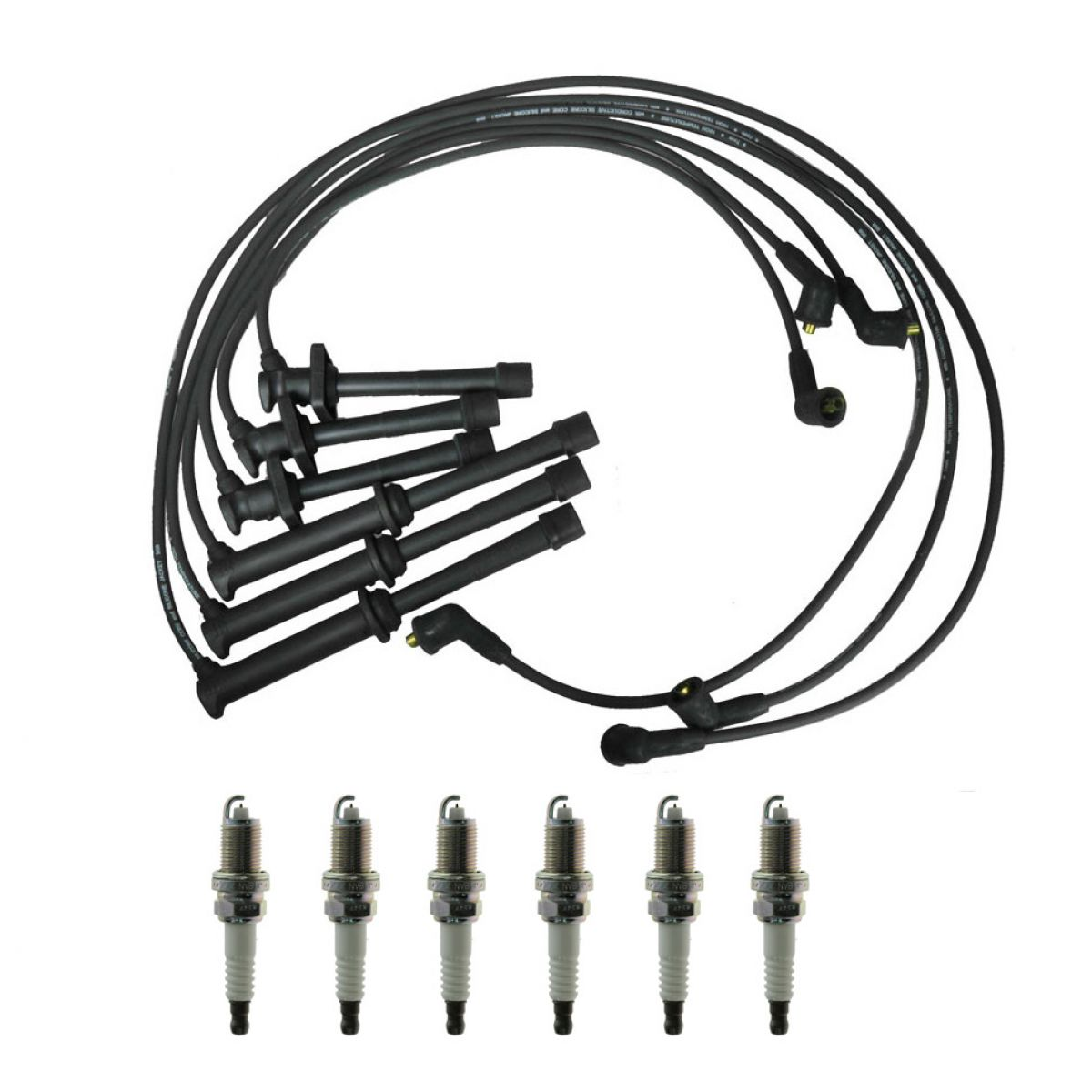 Spark Plugs & Ignition Wires Kit for 93-95 Mazda 626 MX6