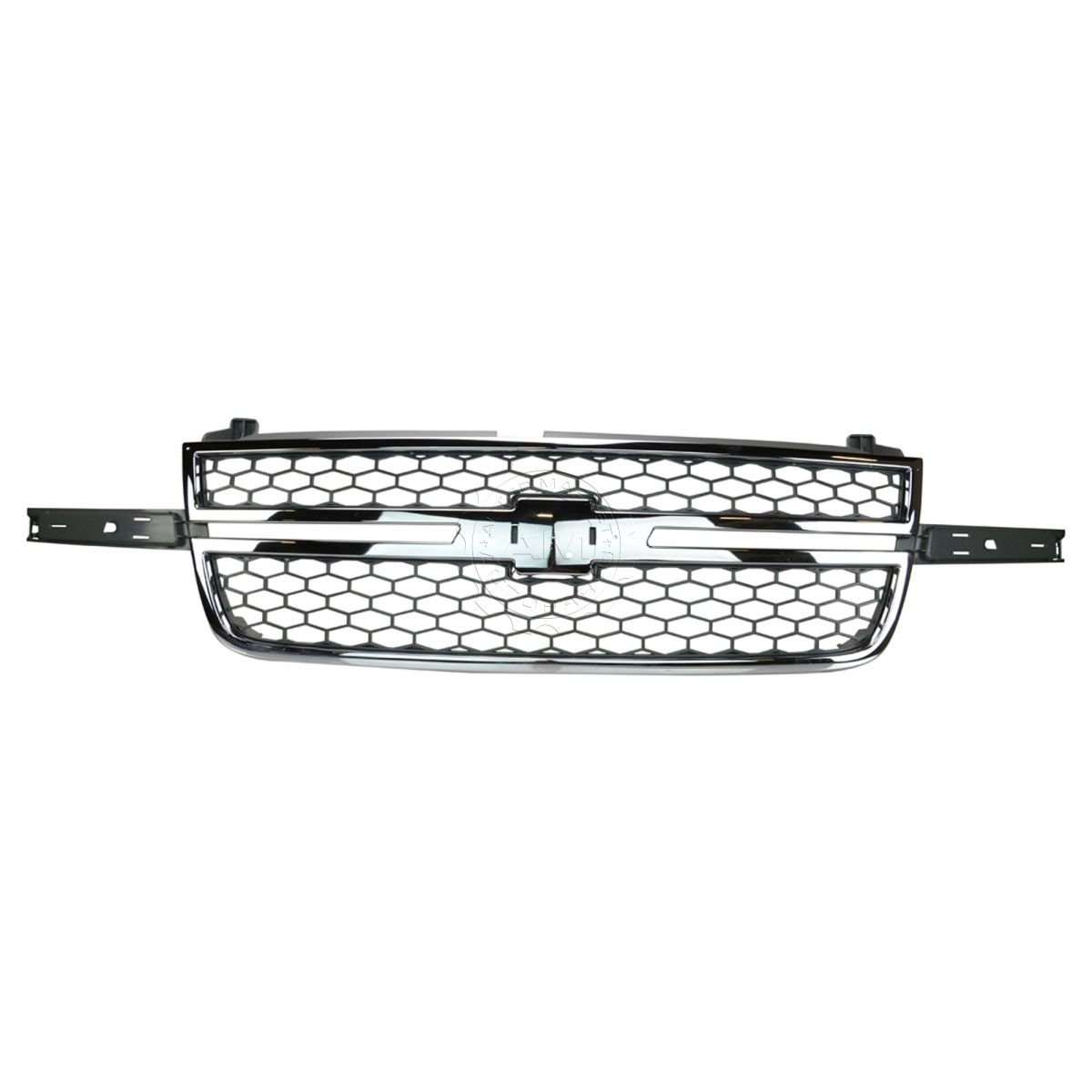 Honeycomb Grille Chrome & Gray for Chevy Silverado Pickup