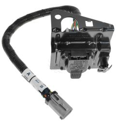 ford 4 7 pin trailer tow wiring harness w plug bracket for f250 [ 1200 x 1200 Pixel ]