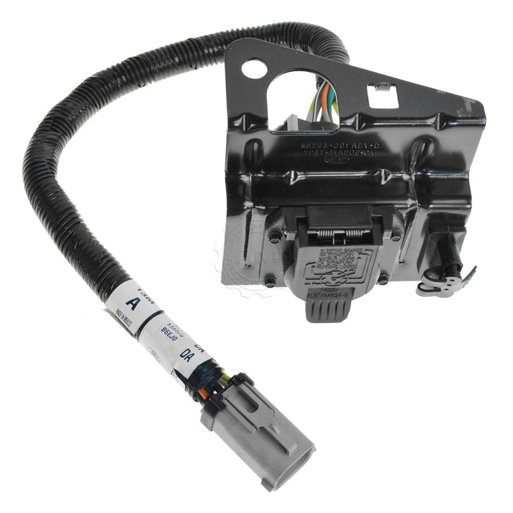 medium resolution of ford 4 7 pin trailer tow wiring harness w plug bracket for f250
