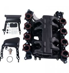 new intake manifold w gasket thermostat o rings for ford lincoln mercury 4 6l [ 1200 x 1200 Pixel ]