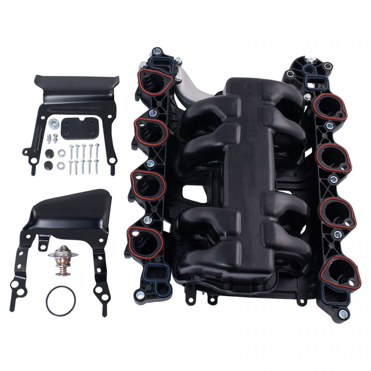 hight resolution of new intake manifold w gasket thermostat o rings for ford lincoln mercury 4 6l