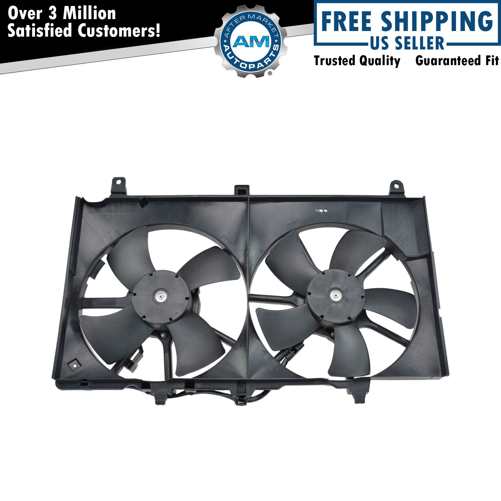 nissan 350z fan wiring diagram golf cart 36 volt dual radiator cooling assembly for