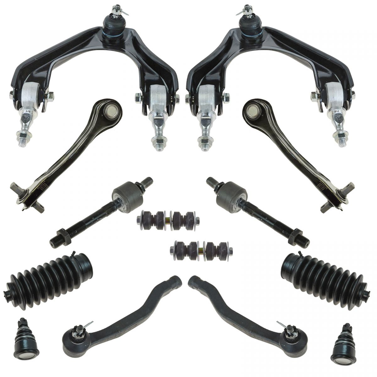 14 Piece Kit Control Arm Ball Joint Tie Rod Sway Bar Link