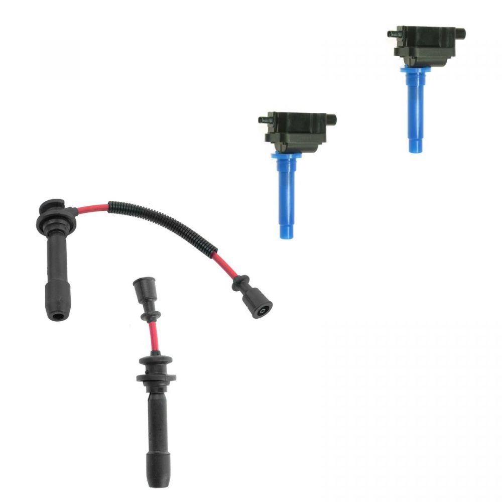 medium resolution of ignition spark plug wires coils kit set for kia sephia spectra