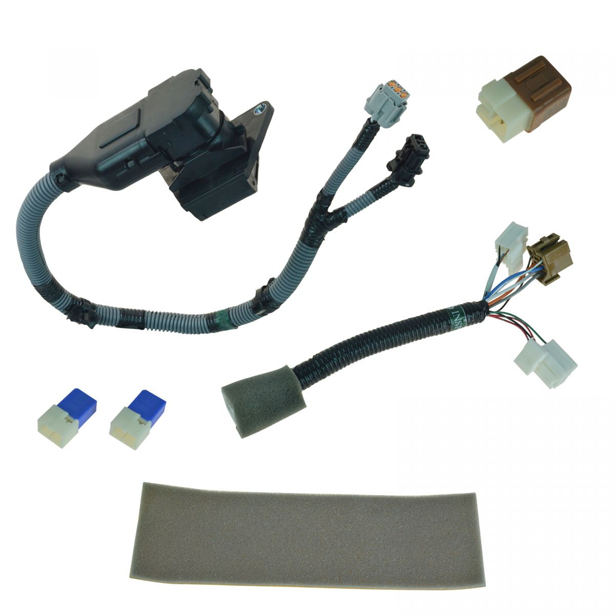hight resolution of oem 999t8br020 complete 7 pin plug play tow harness kit for nissan frontier