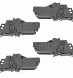 power door lock actuators kit set of 4 for ford f150 f250 f350 excursion mercury [ 1200 x 1200 Pixel ]