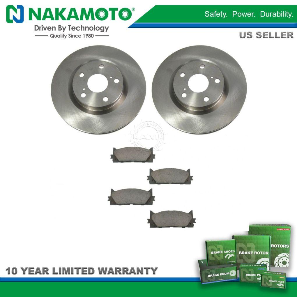 Nakamoto Front Premium Posi Ceramic Disc Brake Pad & Rotor Kit for Camry Lexus