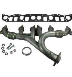 dorman stainless exhaust manifold w gasket for jeep wrangler grand cherokee [ 1200 x 1200 Pixel ]