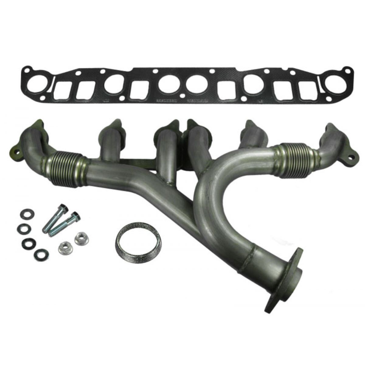 hight resolution of dorman stainless exhaust manifold w gasket for jeep wrangler grand cherokee