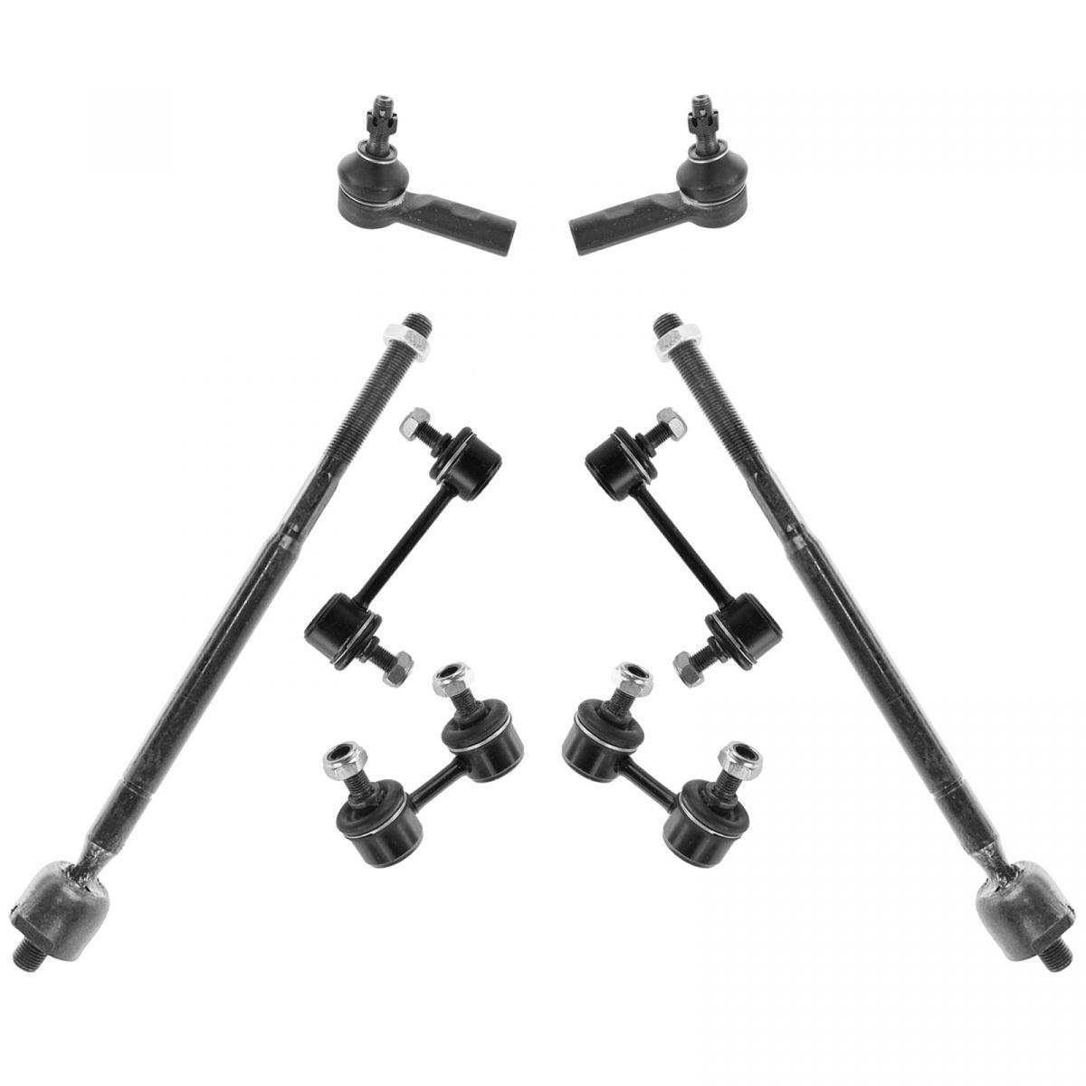 8 Piece Steering Amp Suspension Kit Sway Bar Links Tie Rod