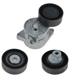 serpentine belt tensioner idler pulley kit set for bmw e36 e39 e46 e53 [ 1200 x 1200 Pixel ]