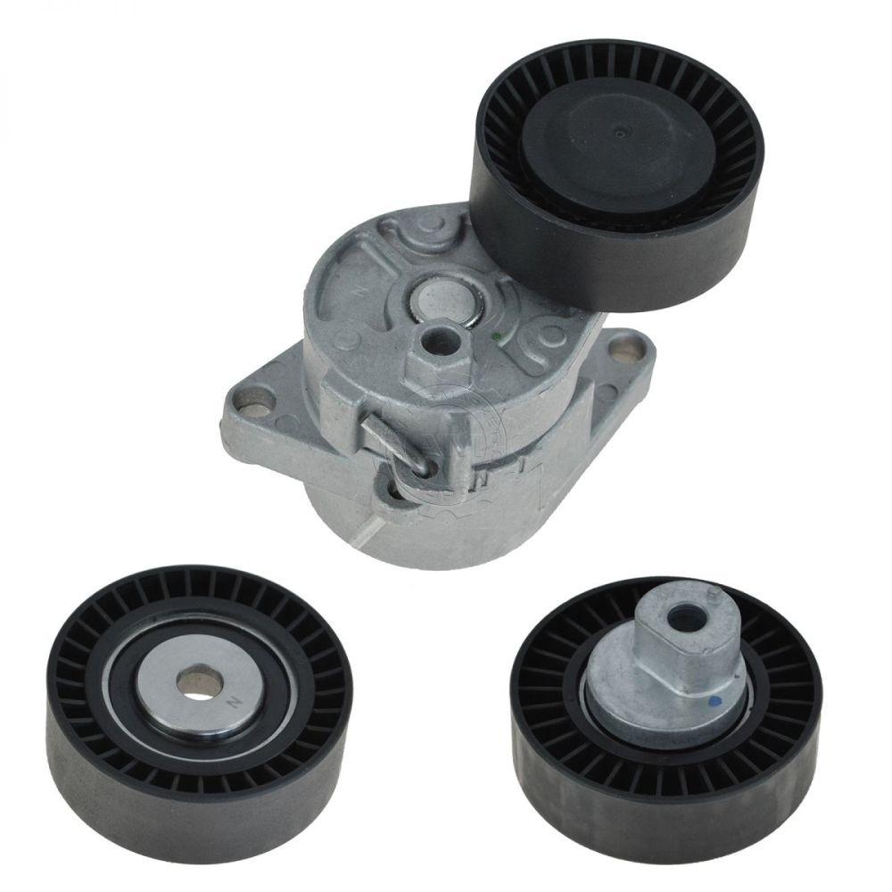 medium resolution of serpentine belt tensioner idler pulley kit set for bmw e36 e39 e46 e53