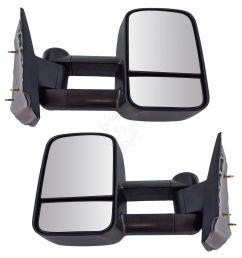 towing mirror manual textured black pair for chevy silverado gmc sierra pickup [ 1200 x 1200 Pixel ]