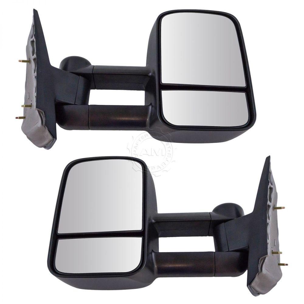 medium resolution of towing mirror manual textured black pair for chevy silverado gmc sierra pickup