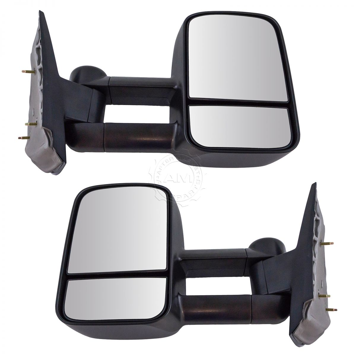 hight resolution of towing mirror manual textured black pair for chevy silverado gmc sierra pickup