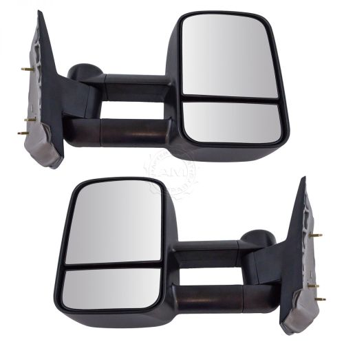 small resolution of towing mirror manual textured black pair for chevy silverado gmc sierra pickup