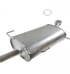 rear exhaust muffler section with gasket new for i30 maxima v6 3 0l [ 1200 x 1200 Pixel ]
