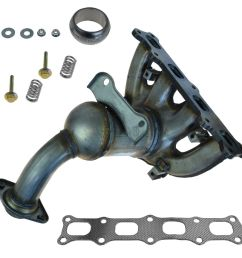 dorman exhaust manifold catalytic converter assembly for caliber compass patriot [ 1200 x 1200 Pixel ]