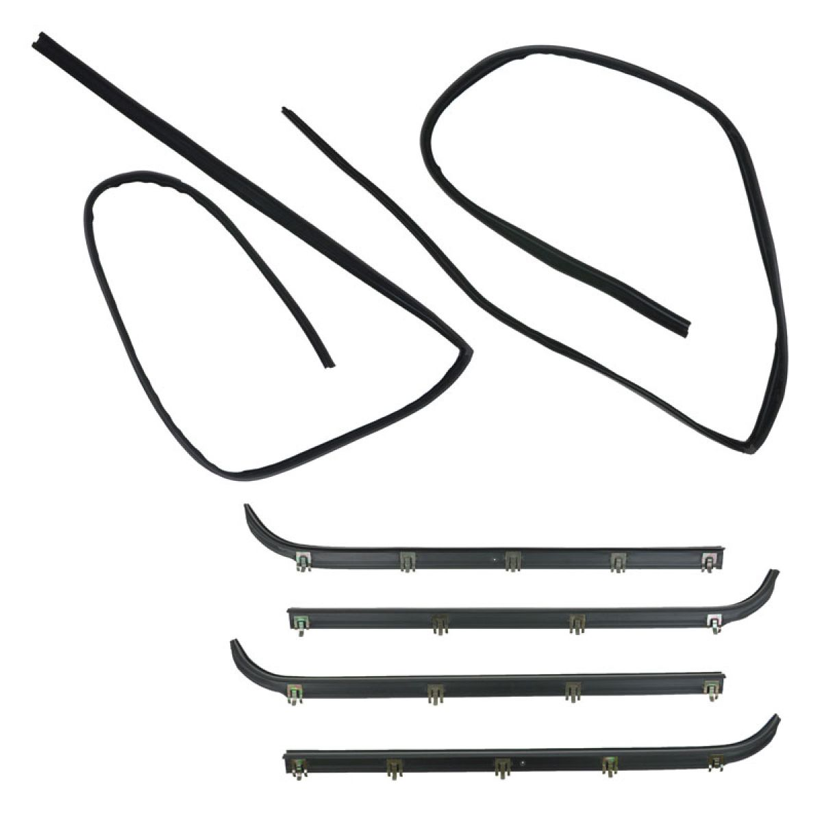 6pc Window Sweep Run Channel Weatherstrip Set For F150