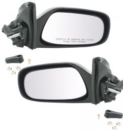 manual remote mirrors left right pair set of 2 for toyota corolla geo prizm [ 1200 x 1200 Pixel ]