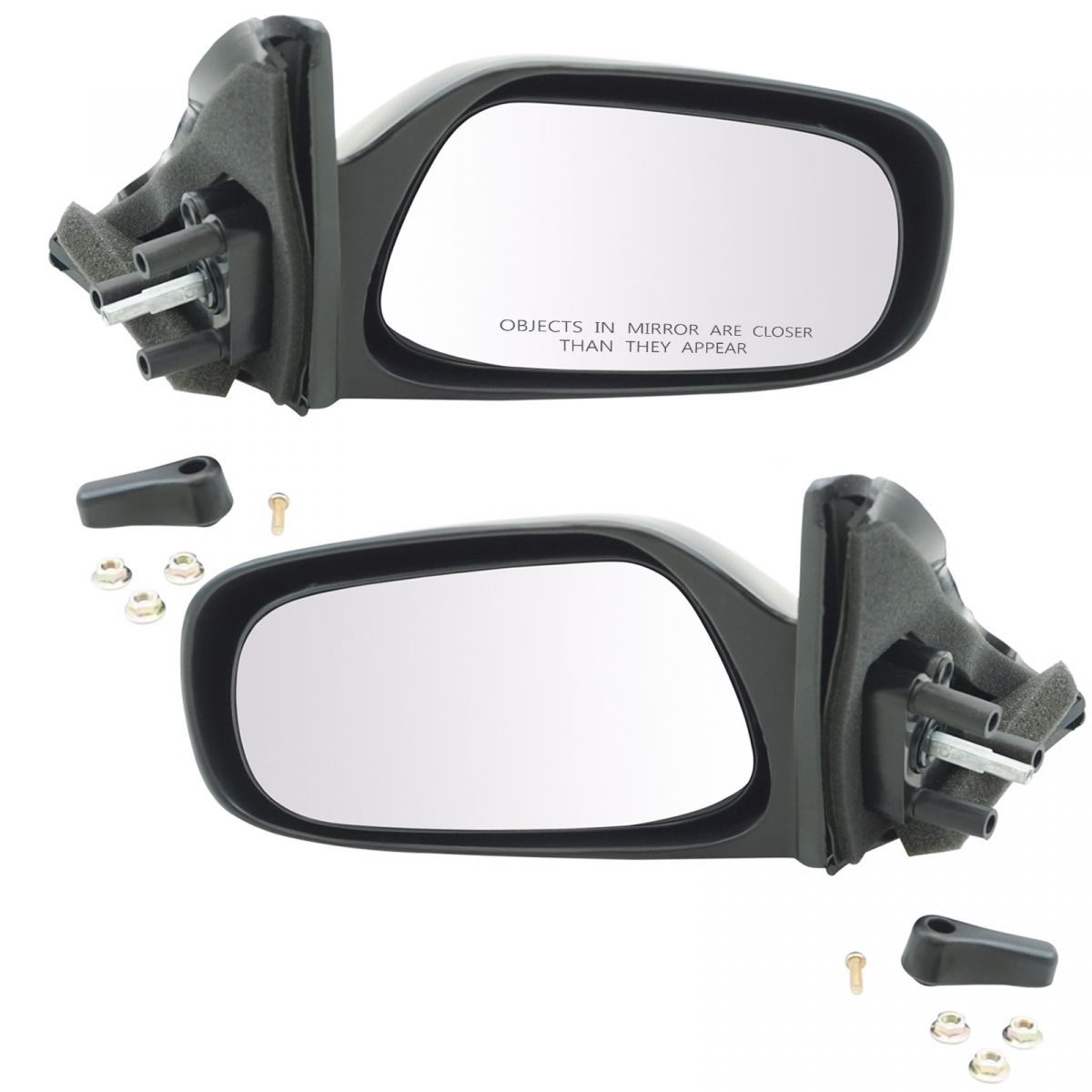 hight resolution of manual remote mirrors left right pair set of 2 for toyota corolla geo prizm