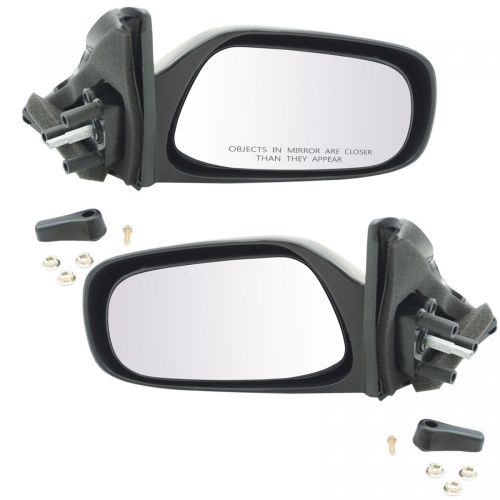 small resolution of manual remote mirrors left right pair set of 2 for toyota corolla geo prizm