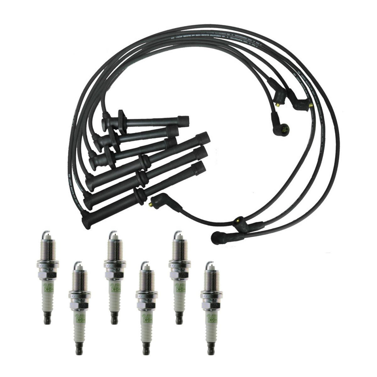 Spark Plugs Ignition Wires Kit For 93 94 Ford Probe 2 5l