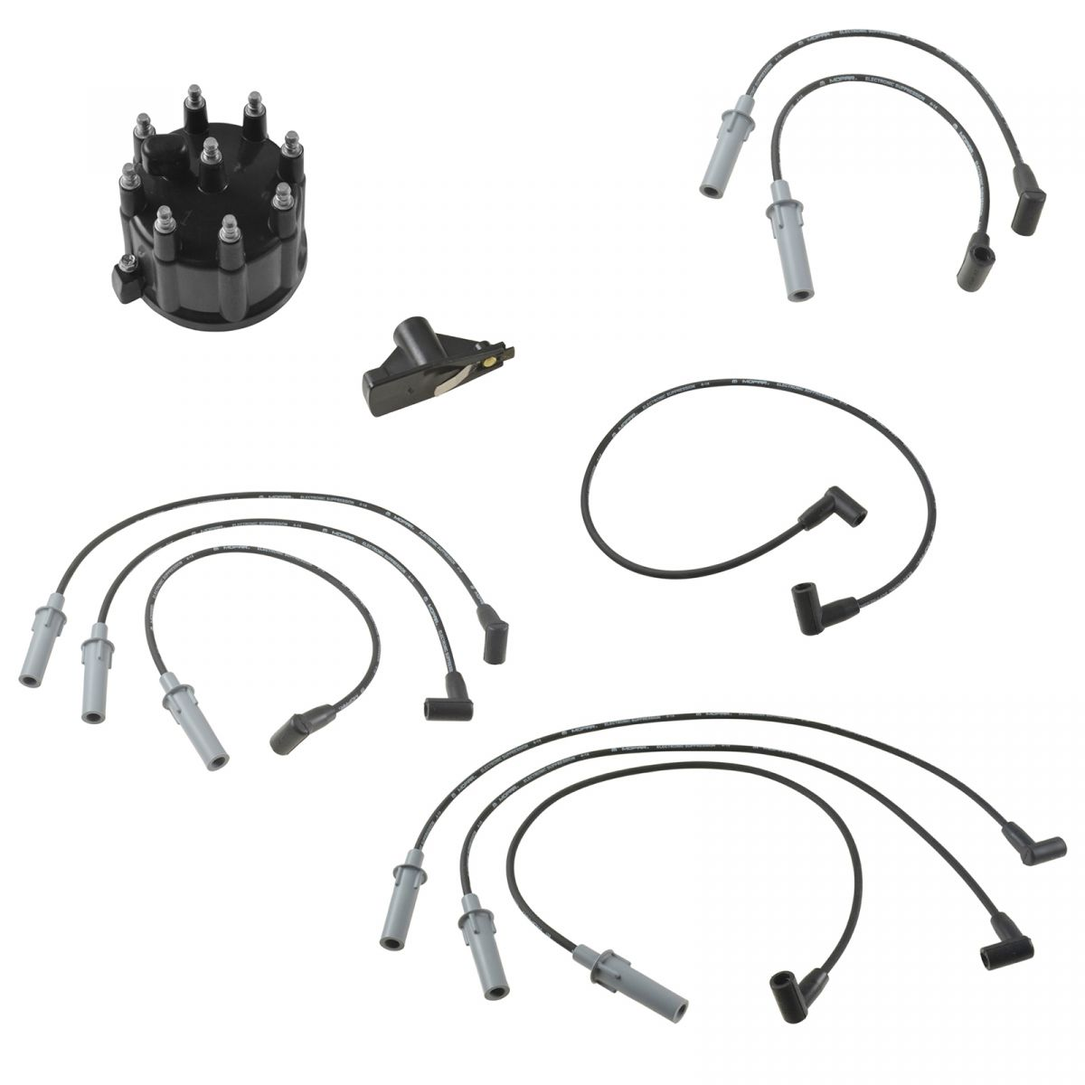 OEM Spark Plug Wires Distributor Cap & Rotor Tune Up Kit