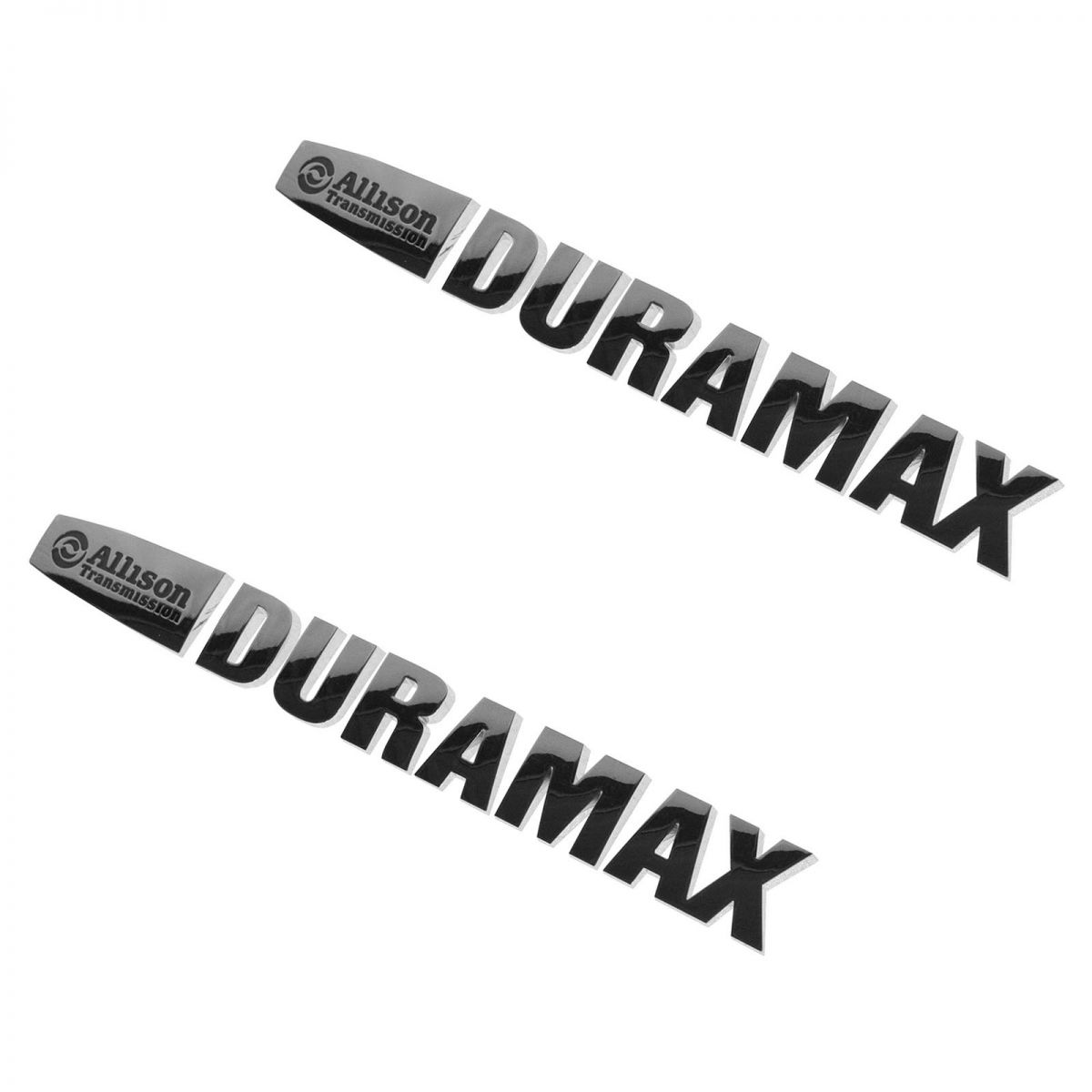 Gm Allison Duramax Emblem Letter Set Chrome Pair For 15