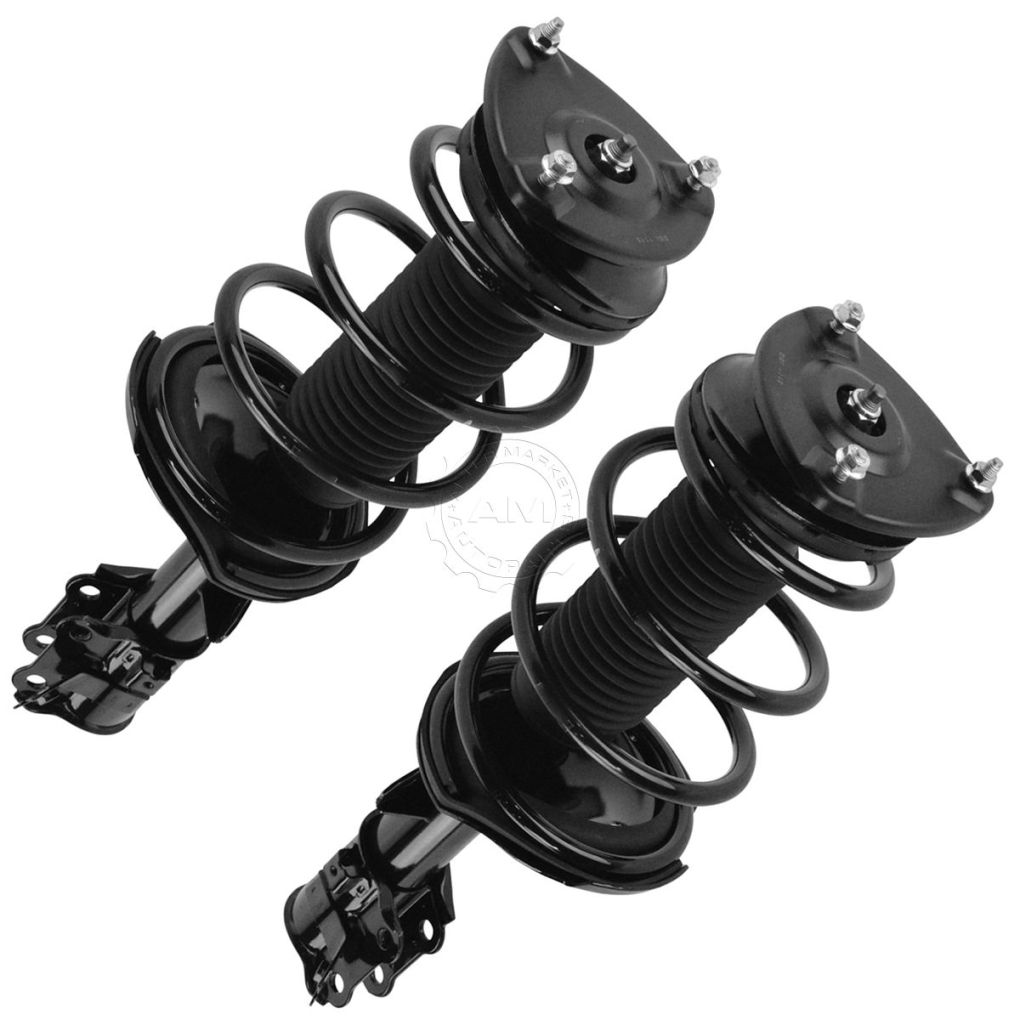 Front Complete Shock Strut Spring Assembly Driver Passenger Pair for Accent Rio