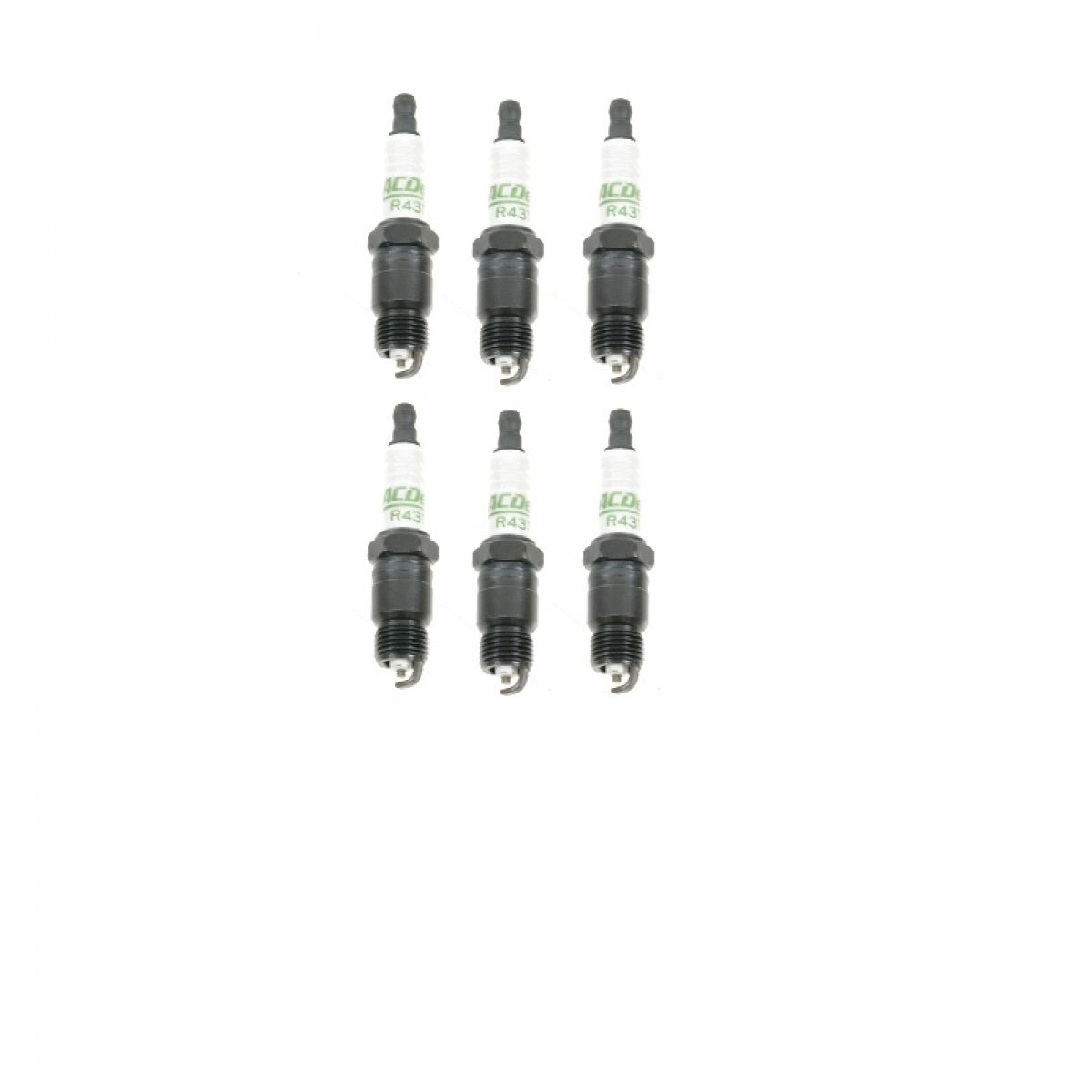 Ac Delco R43ts Spark Plug 6 Piece Set Kit For Buick Chevy