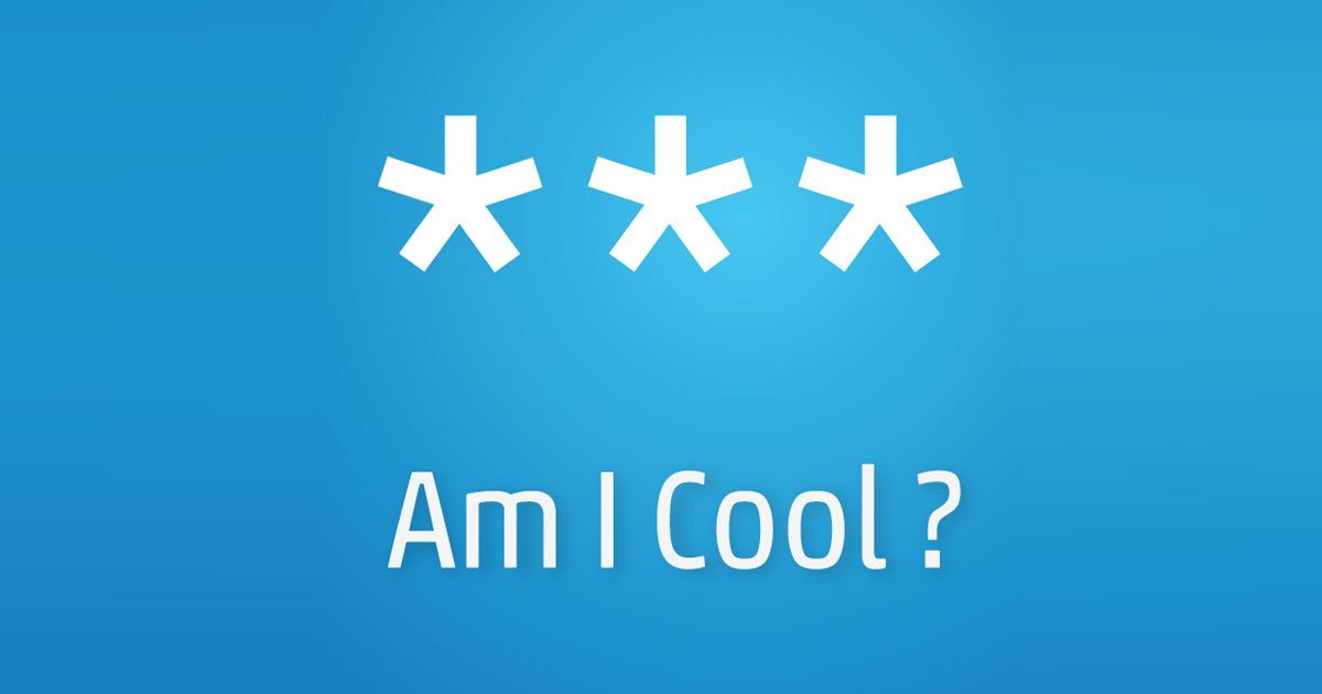 am i cool test