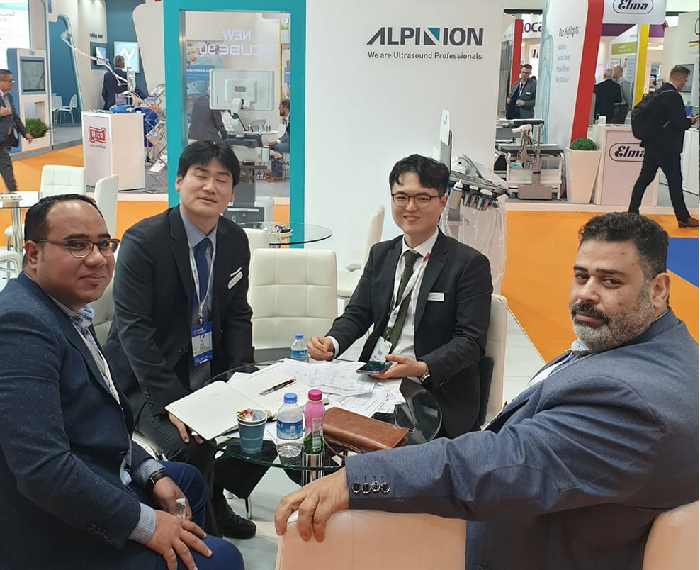 AM in Arab Health Exhibition 2020