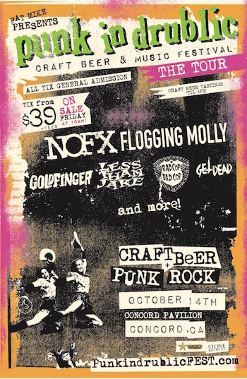 Punk In Drublic Concord flyer with band lineup and venue & ticket details