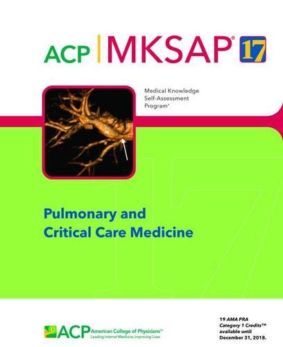 MKSAP (R) 17 Pulmonary and Critical Care Medicine PDF