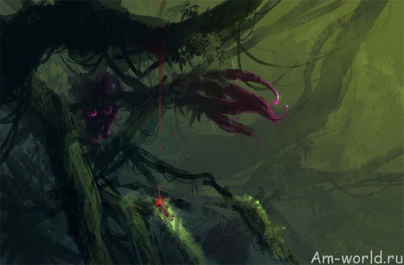Дерево-хищник пожирающее людей
