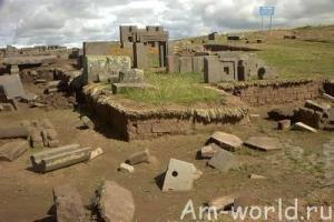Тиуанако - таинственный город в Боливии