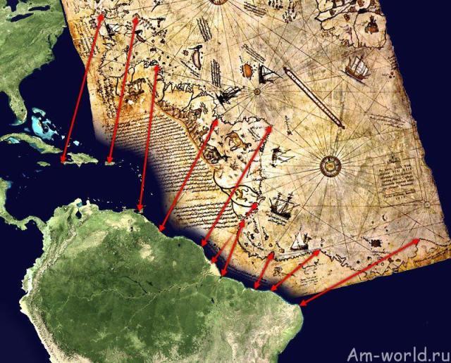 Карта адмирала Пири Рейса