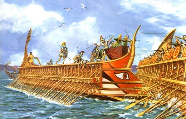 Как строились военные корабли в Древней Греции