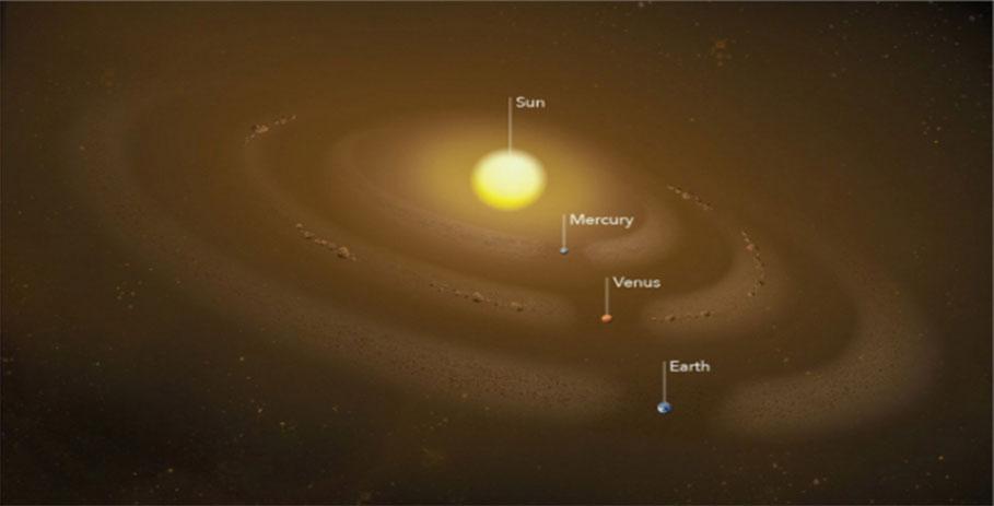 Астрономы нашли пылевое кольцо на орбите Меркурия и астероиды на орбите Венеры