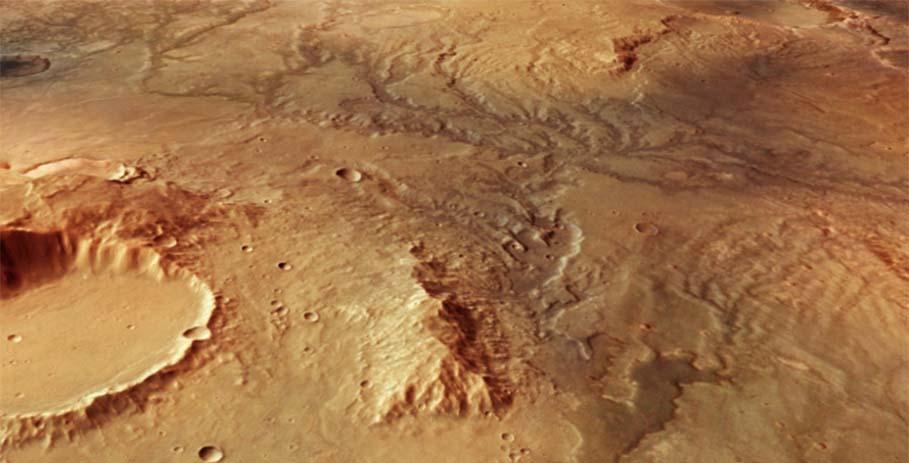 На Марсе нашли следы древних потоков воды